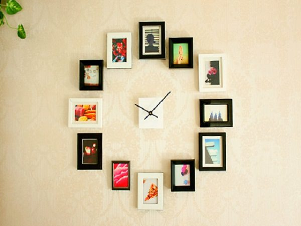 11. Framed Photos Wall Clock