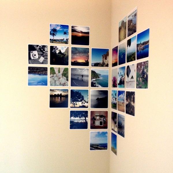 14. Corner Heart with Photo Prints