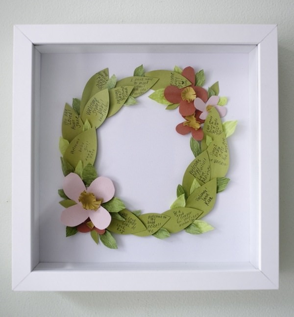 27. Floral Wreath Guestbook