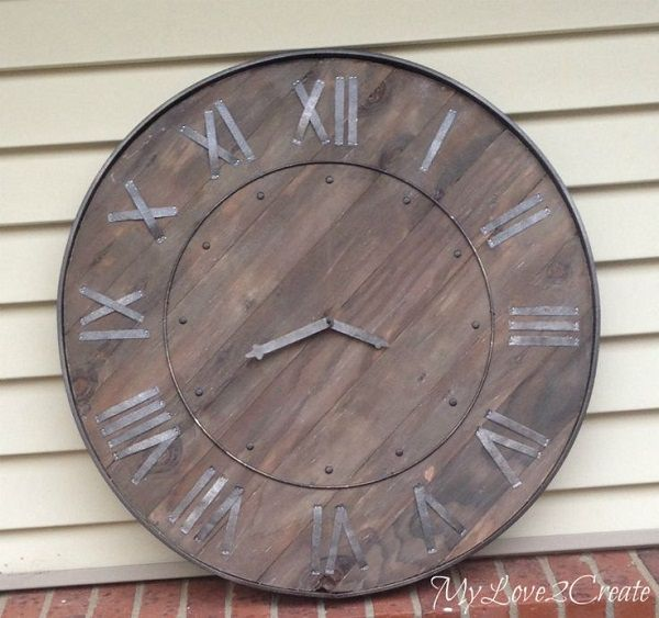 3. Rustic Clock Wall Art