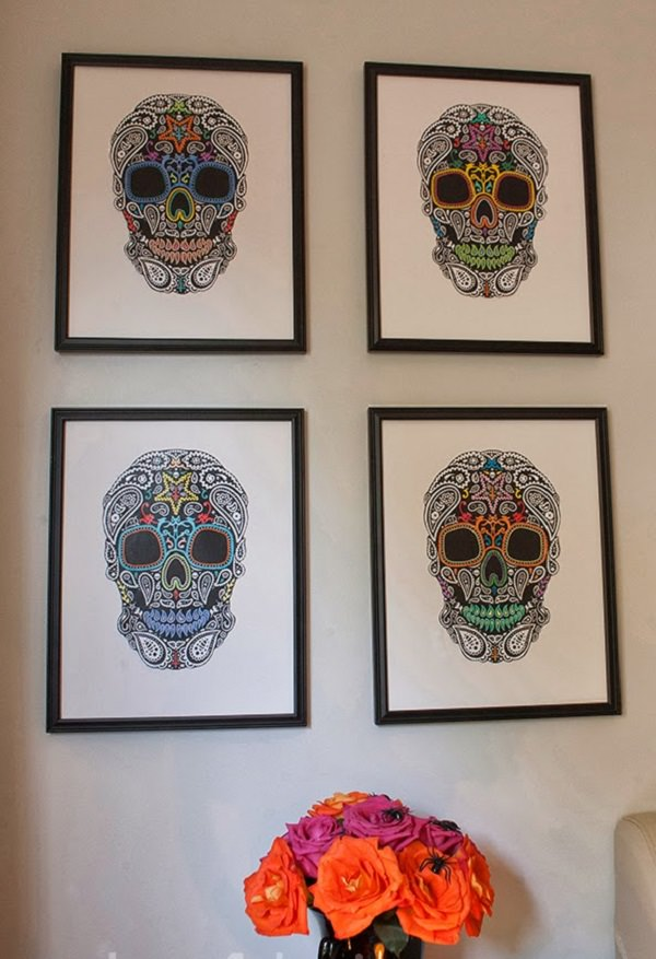 33. DIY Halloween Skull