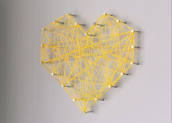 38. DIY Threaded Heart