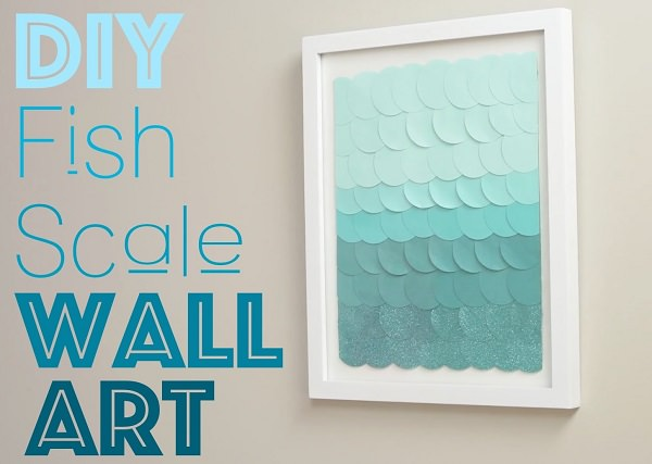 40. DIY Fish Scale Wall Art