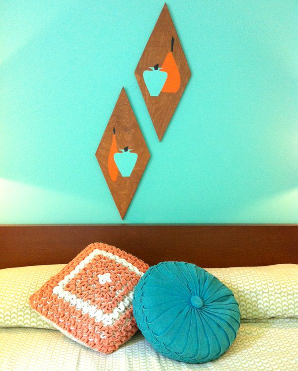 44. Retro Wood Wall Art