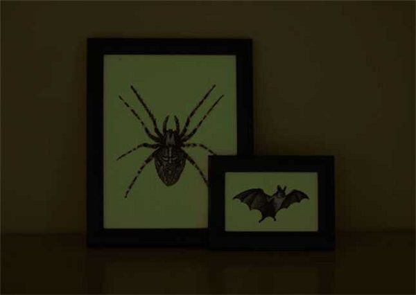 45. Glow in the Dark Halloween Art