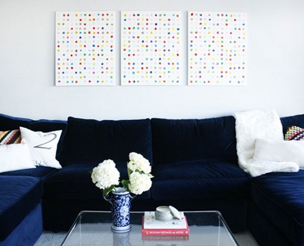 46. DIY Polka Dots Wall Art