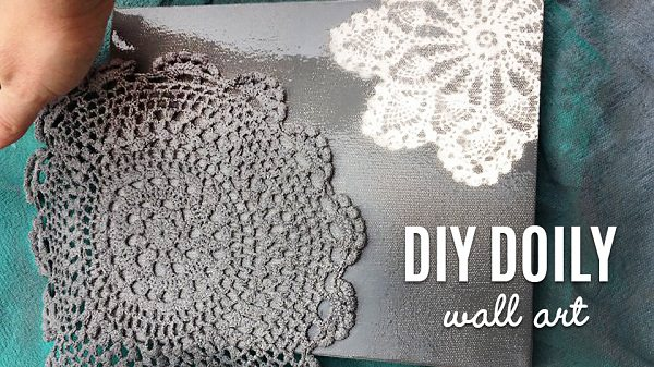 49. DIY Doily Wall Art