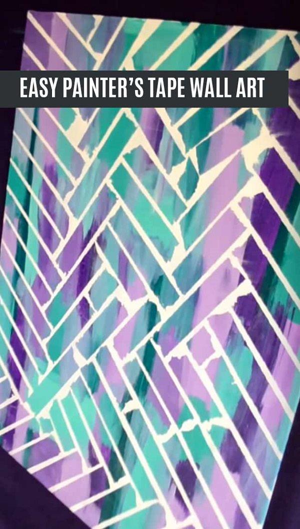 5. DIY Tape Wall Art