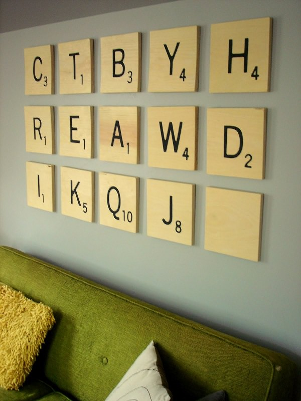 58. Scrabble Tile Wall Art