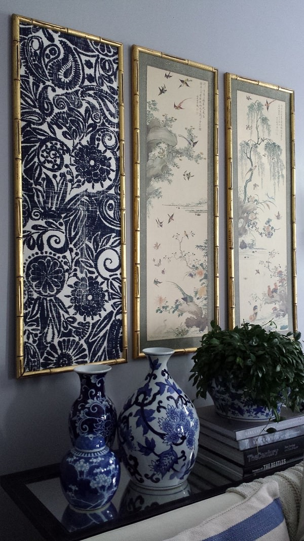 6. DIY Indigo Wall Art
