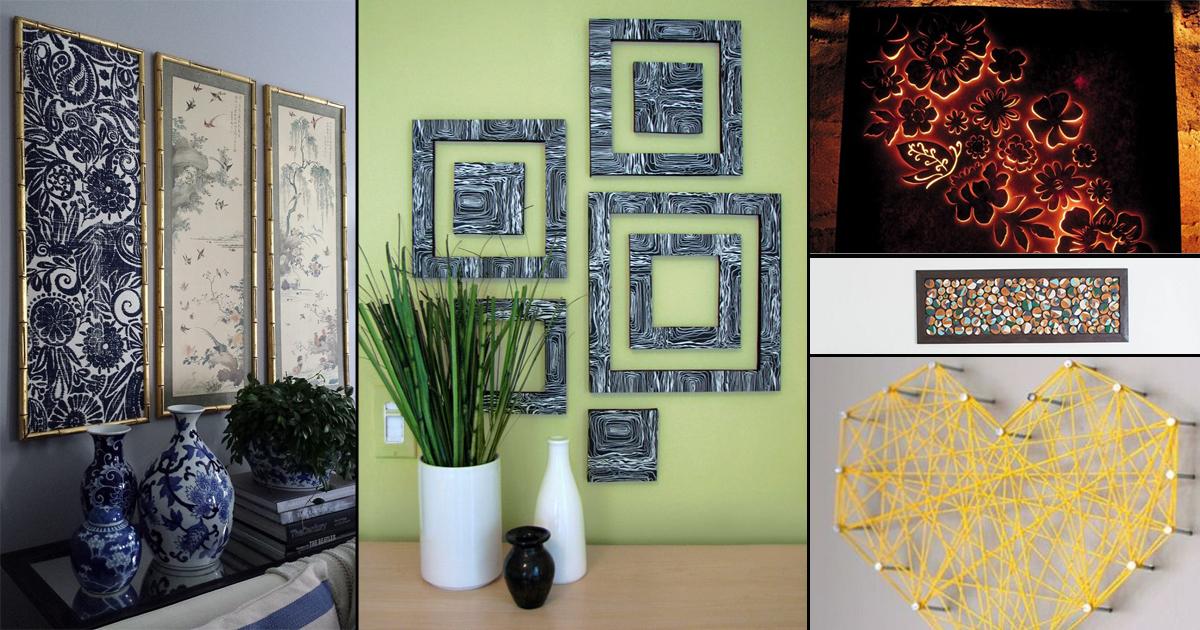Cheap Wall Art Ideas: 60 Creative And Cheap DIY Wall Art Hack