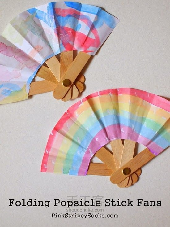 15 simple and creative popsicle stick crafts and diy projects ice this traditional art of making a folding fan is easy and simple using popsicle sticks and few other supplies the detailed tutorial is available at pink ccuart Image collections