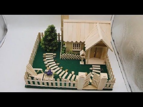 15 Homemade Popsicle Stick House Designs | Flisol Home