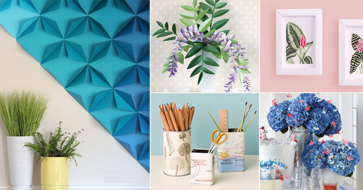 40 Diy Room Decor Ideas With Paper Diy Paper Crafts For Home Decor Cradiori