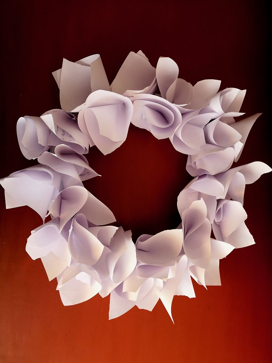 Paper Flower Wreath Tutorial 7