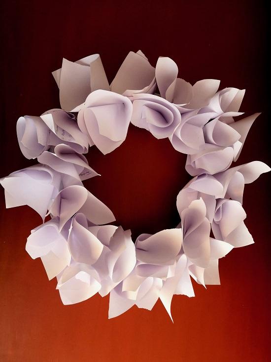 Paper Flower Wreath Tutorial 7