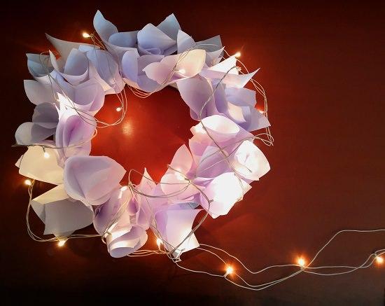 Paper Flower Wreath Tutorial 9