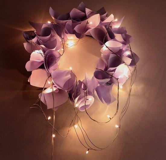 Paper Flower Wreath Tutorial 10