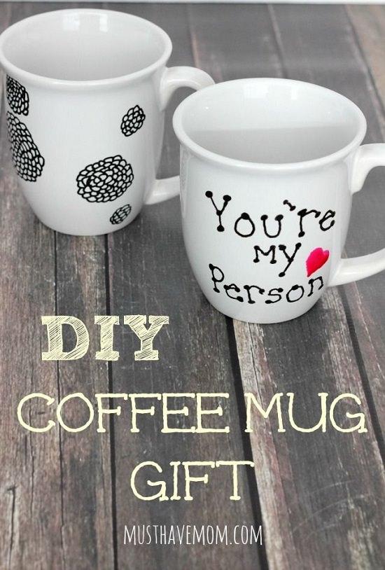 DIY Hand Painted Coffee Mugs 12
