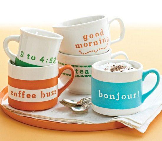 DIY Hand Painted Coffee Mugs 11