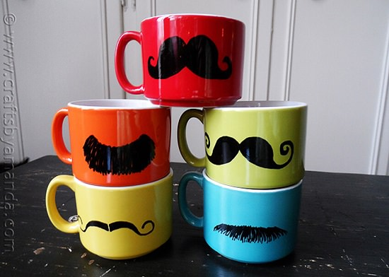 DIY Hand Painted Coffee Mugs 8
