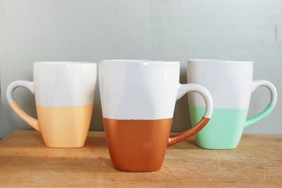DIY Hand Painted Coffee Mugs 9