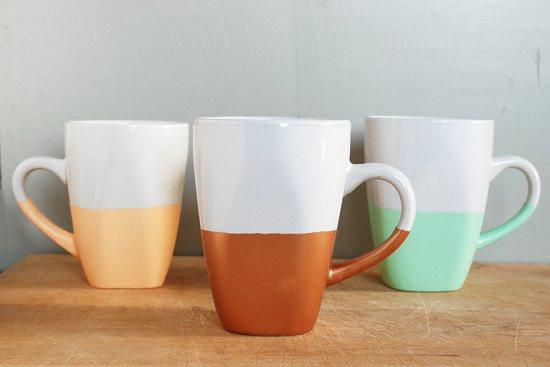 DIY Hand Painted Coffee Mugs 9