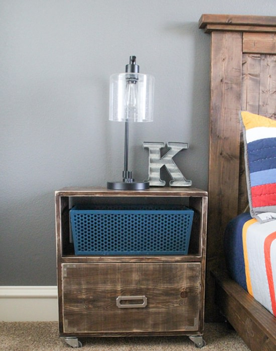 DIY Nightstand Ideas 34