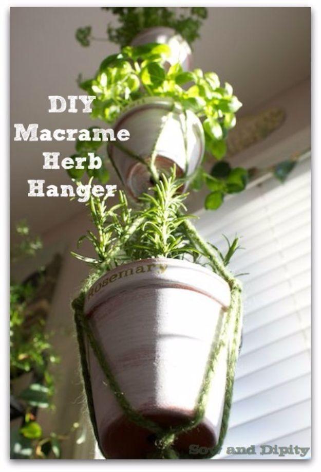 DIY Macrame Herb Hanger