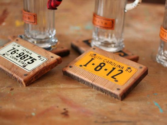 License Plate Coasters