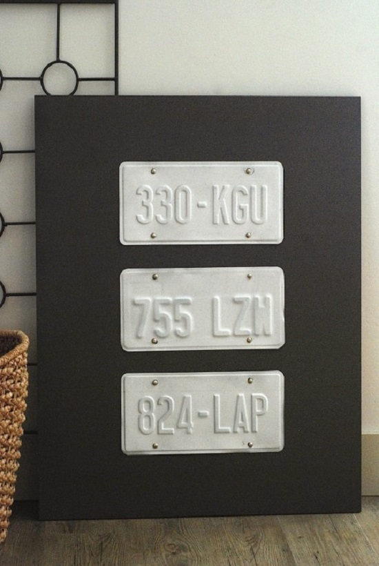 Simple License Plate Board Wall Art