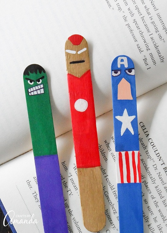 Avengers Bookmark Ideas DIY10