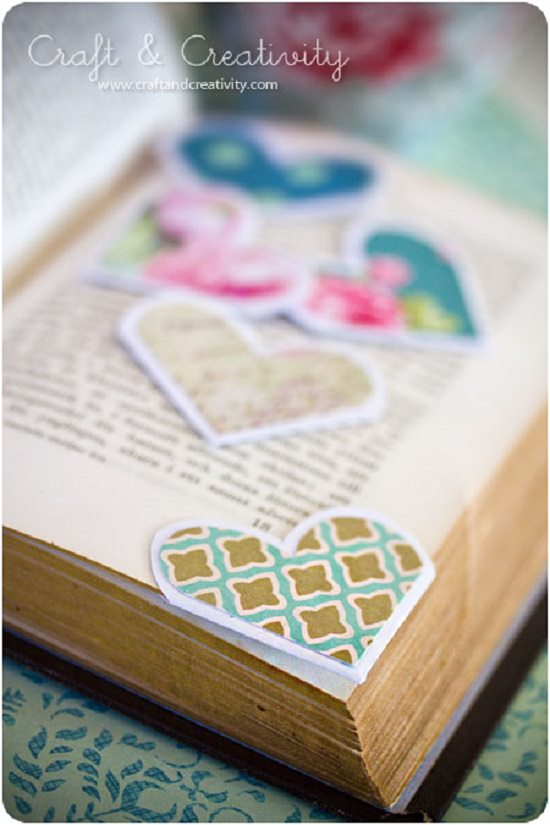 Heart Shaped Bookmarks Out Of Paper