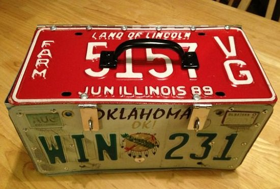 License Plate Lunchbox