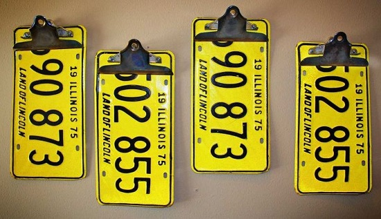 License Plate Clipboards
