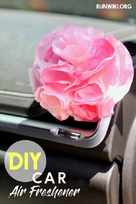 Coffee Filter Flower Air Freshener 10