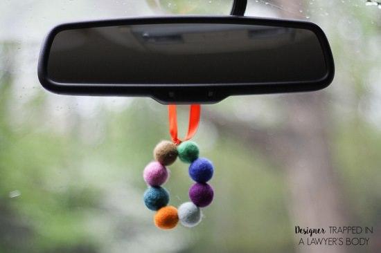 Felt Balls Car Freshener 20