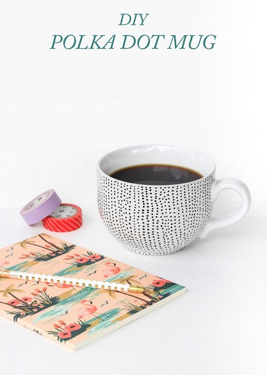 DIY Polka Dotted Mug