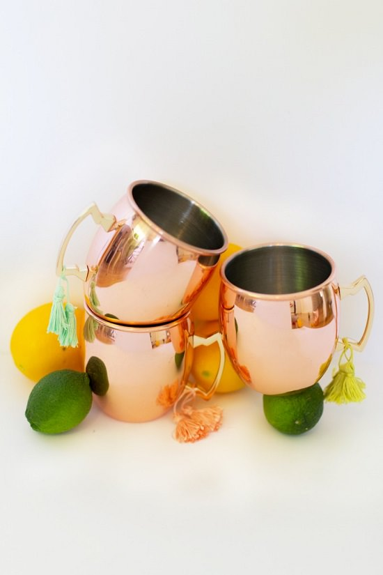 DIY Copped Toned Mugs for Moscow Mule
