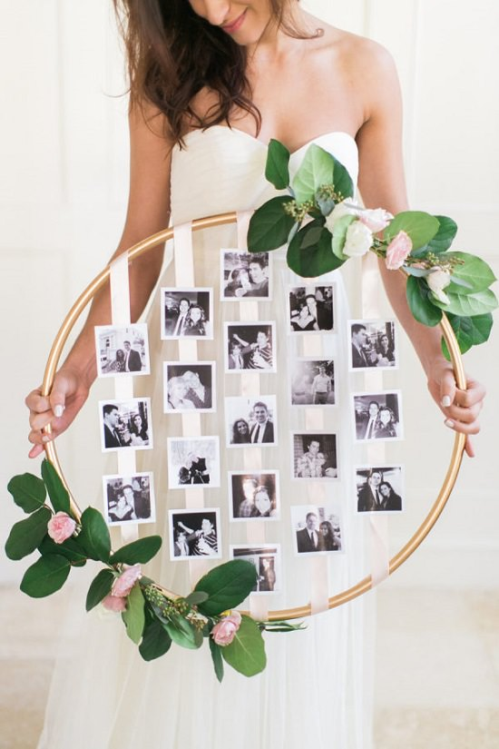 DIY Floral Photo Hoop