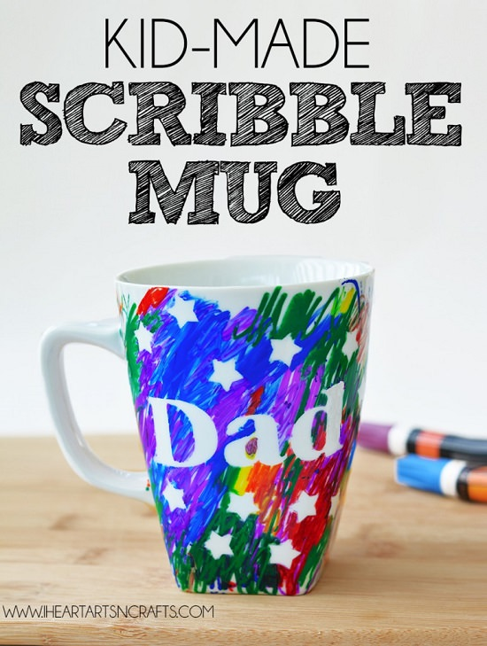 DIY Cute Scribbled Mug