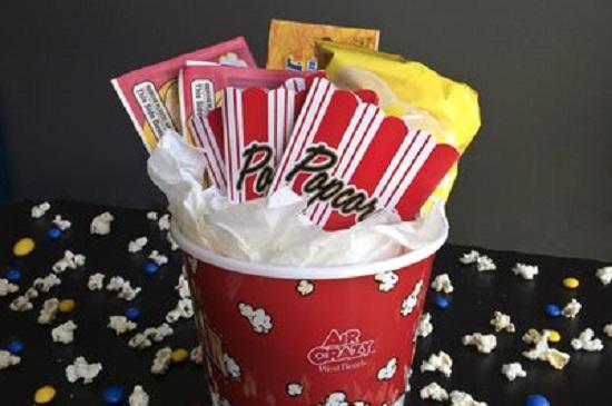Popcorn Movie-Night Gift Basket