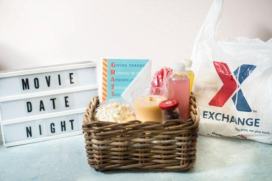 Wooden Basket Movie-Night Gift Basket