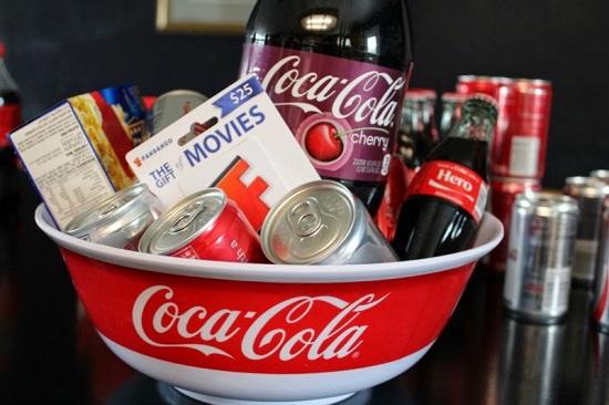 Coca Cola Movie Night Gift Basket