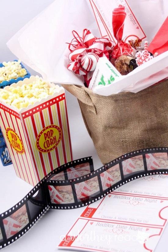 Date Night Movie Gift Basket