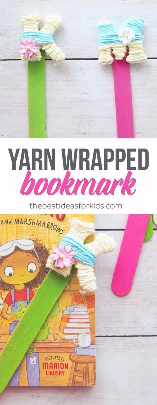 crafts to do with yarn bookmarks