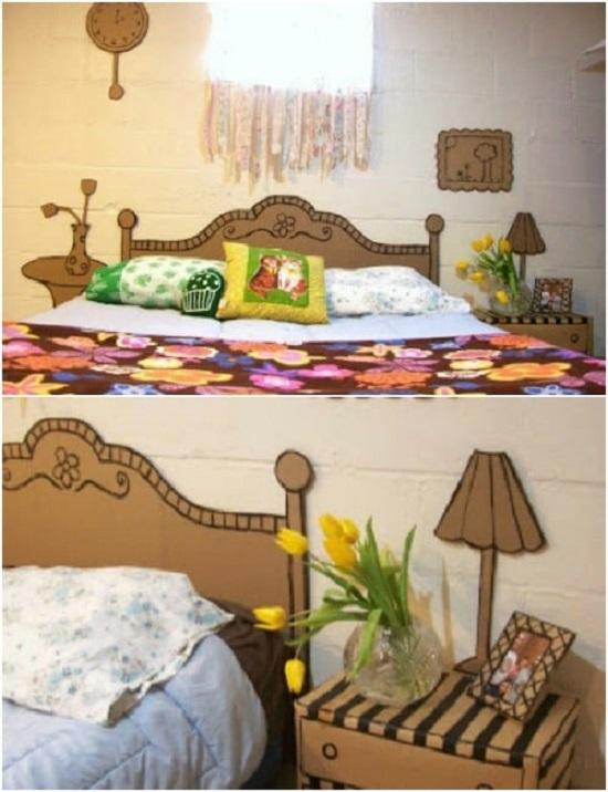 room decor ideas with cardboard 3