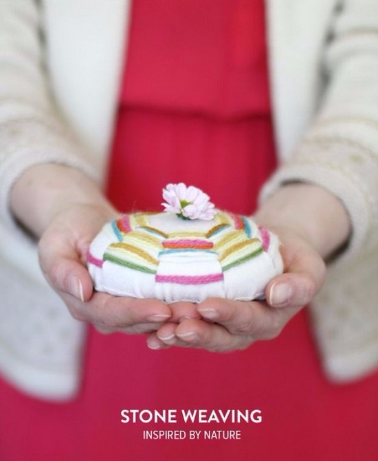 stone and crafts to do with yarn