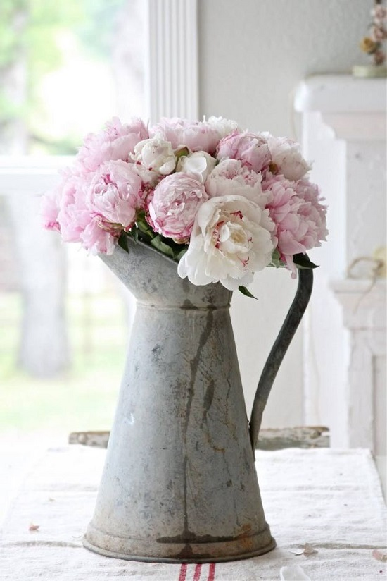 Antique Coffee Pot Flower Vase