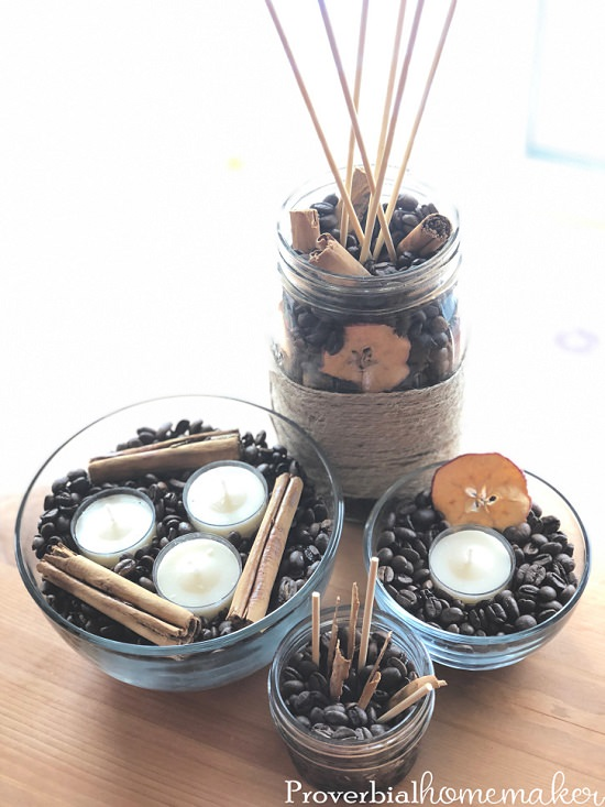 DIY Essential Oil Diffusers Using Coffee
